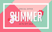 Summer sale background layout with colorful design for banners,Wallpaper,flyers, invitation, posters, brochure, voucher discount.Vector illustration template.