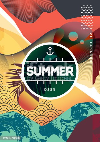 istock Summer Abstract Background with Mixed Textures 1253270870