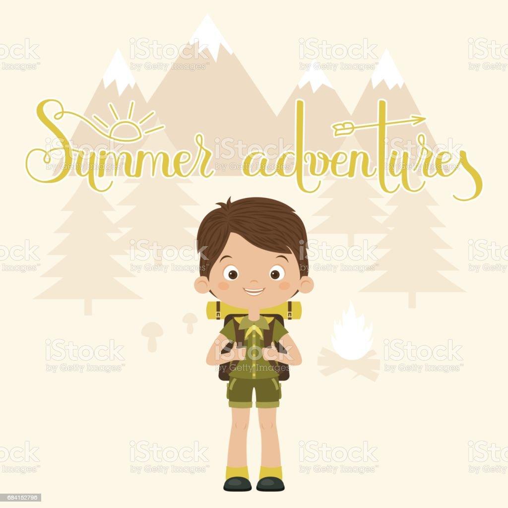 Summer adventures concept summer adventures concept - immagini vettoriali stock e altre immagini di adolescente royalty-free