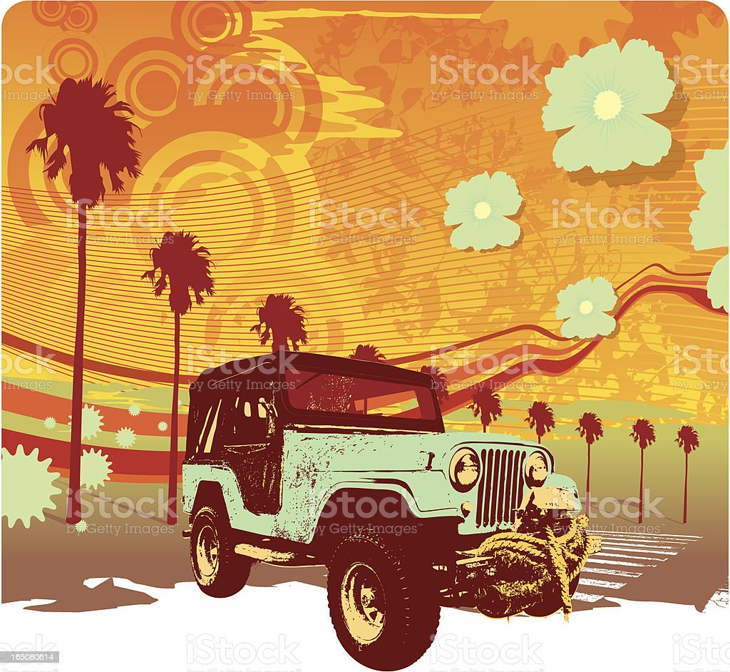 summer all terrain vector art illustration