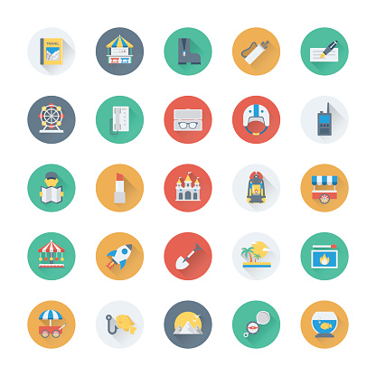 Summer and Holidays Vector Icons 20