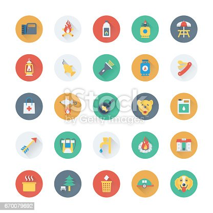 Summer and Holidays Vector Icons 23