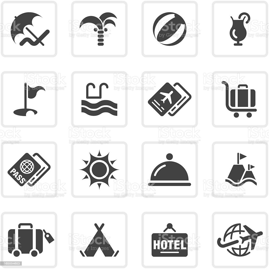Summer and Travel icons | prime series royalty-free stock vector art