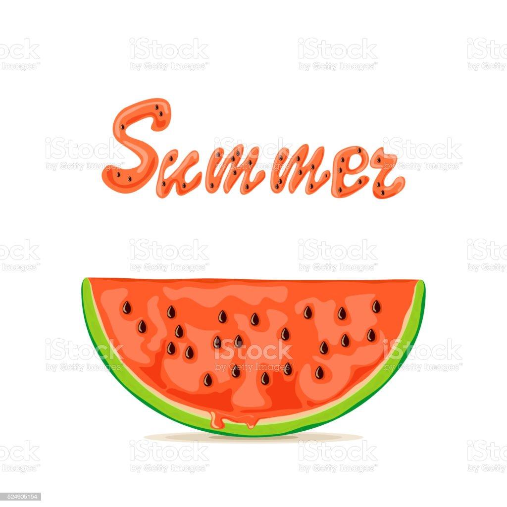 Sommer Und Wassermelone Stock Vektor Art Und Mehr Bilder Von