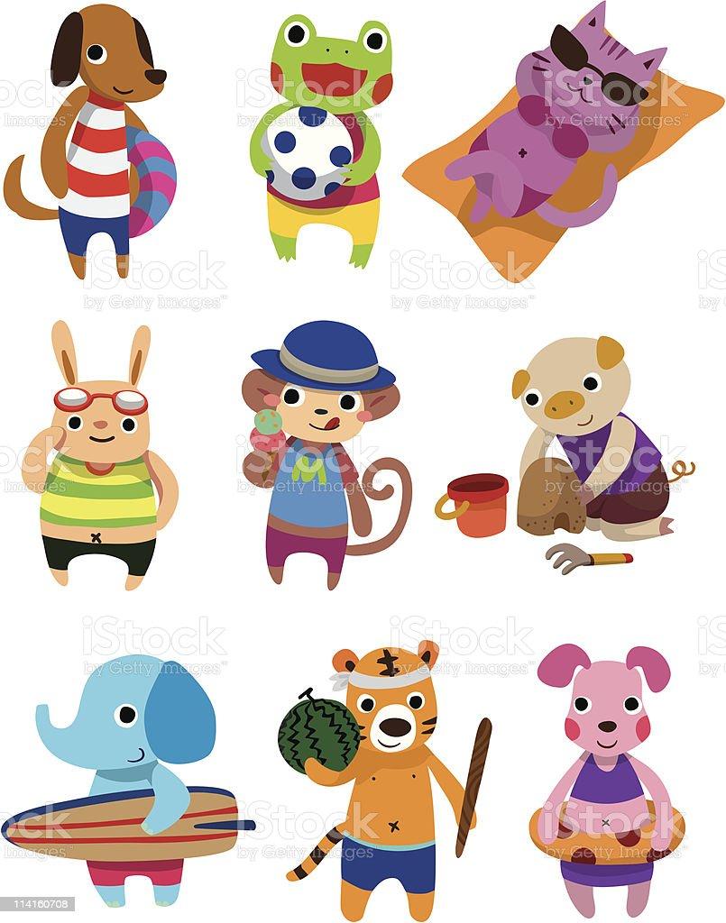 summer animal vector art illustration