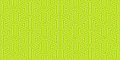 Summer background geometric triangle pattern seamless lemon green and white.
