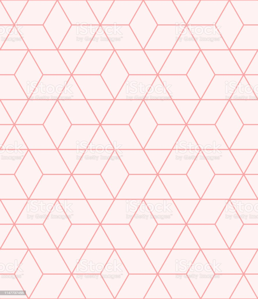 Summer Background Pattern Geometric Abstract Design Pink
