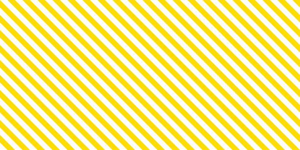 여름 배경 스트라이프 패턴 원활한 노란색과 흰색. - 노랑 stock illustrations