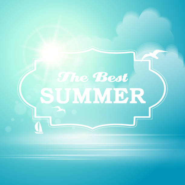 ilustrações, clipart, desenhos animados e ícones de fundo de verão - viagem de primeira classe
