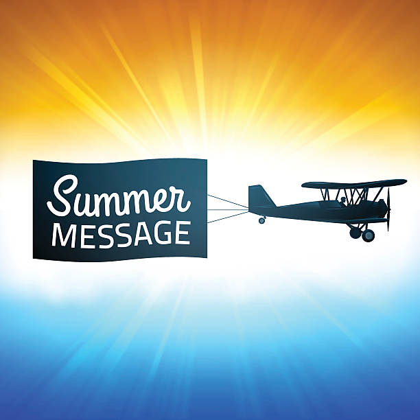 Summer Background with Message vector art illustration
