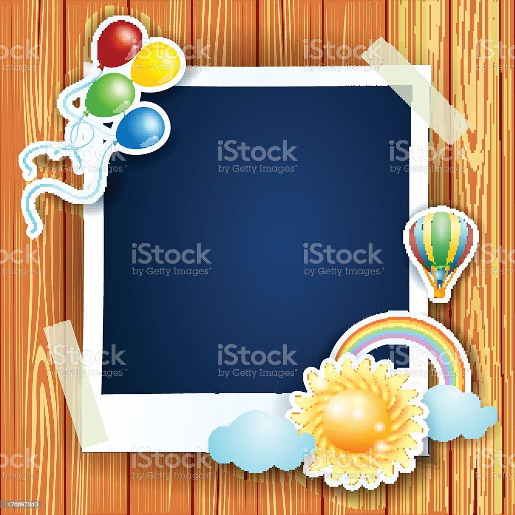 Sommer Hintergrund Mit Bilderrahmen Vektor Illustration 476697340 ...