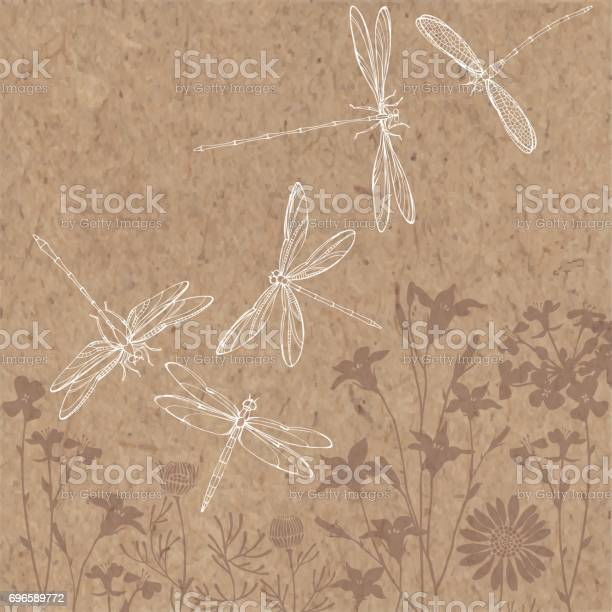Summer background with silhouettes of meadow flowers and outline by vector id696589772?b=1&k=6&m=696589772&s=612x612&h=ue57ph4bqhi9xznfs73sfc wsgm77yi78kcagspemy4=