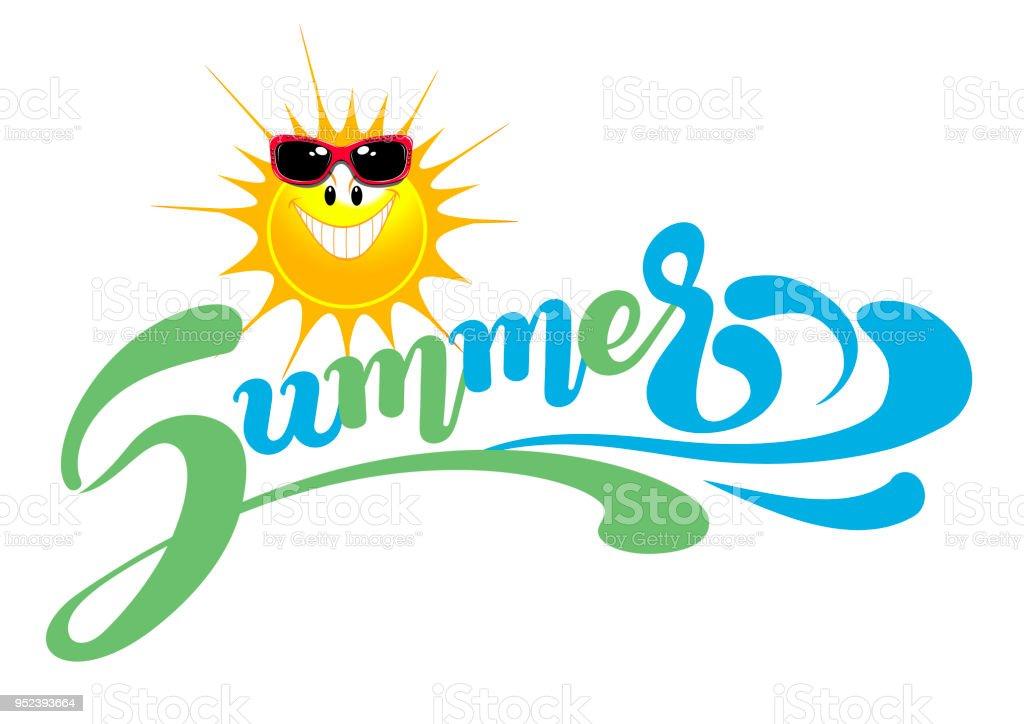 Summer Banner Lettering 3 Stock Illustration - Download ...