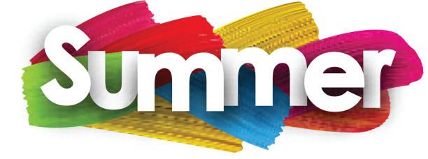 Sommer-Banner mit Pinselstrichen. – Vektorgrafik