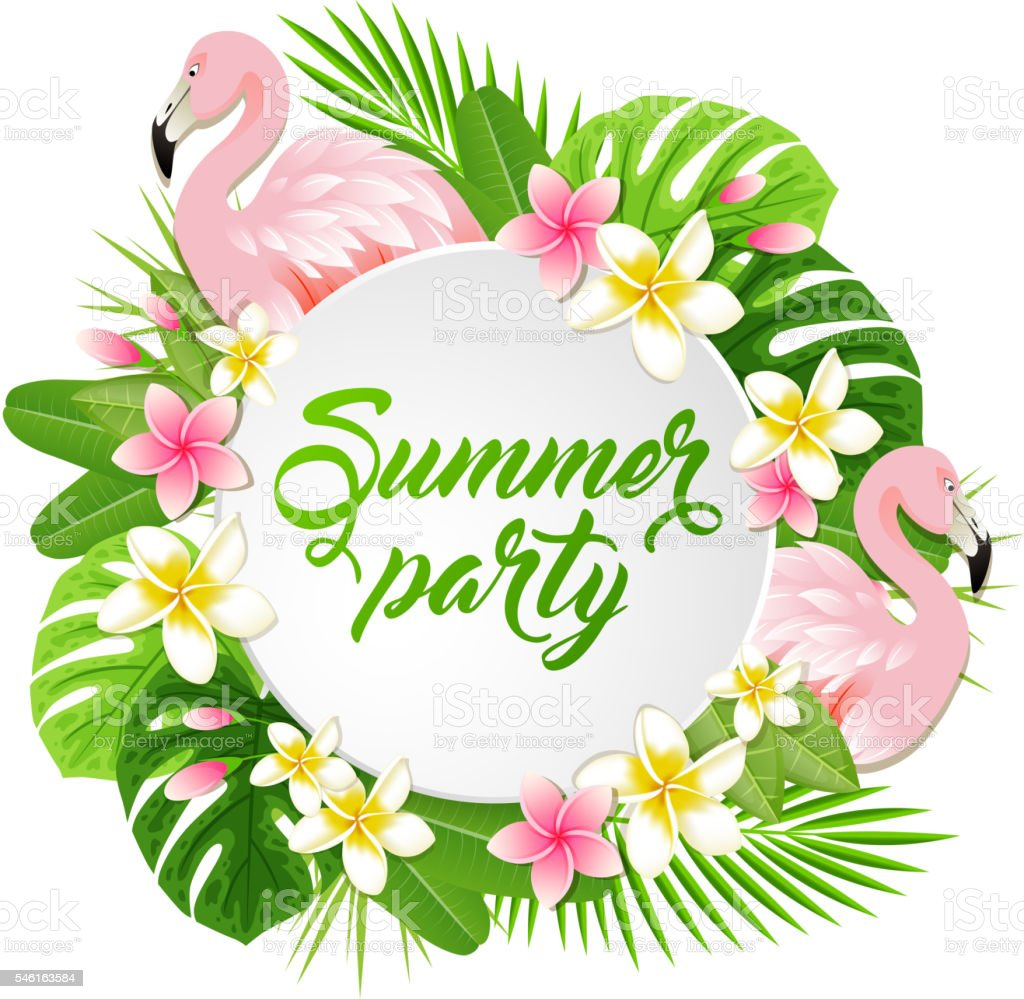 Summer Banner With Flamingo Stock Vector Art & More Images ...