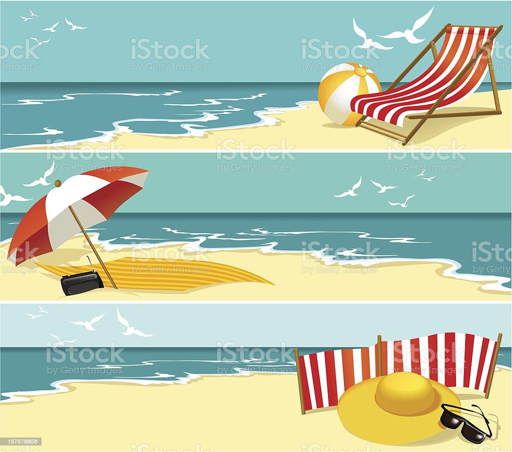 Summer banners vector art illustration