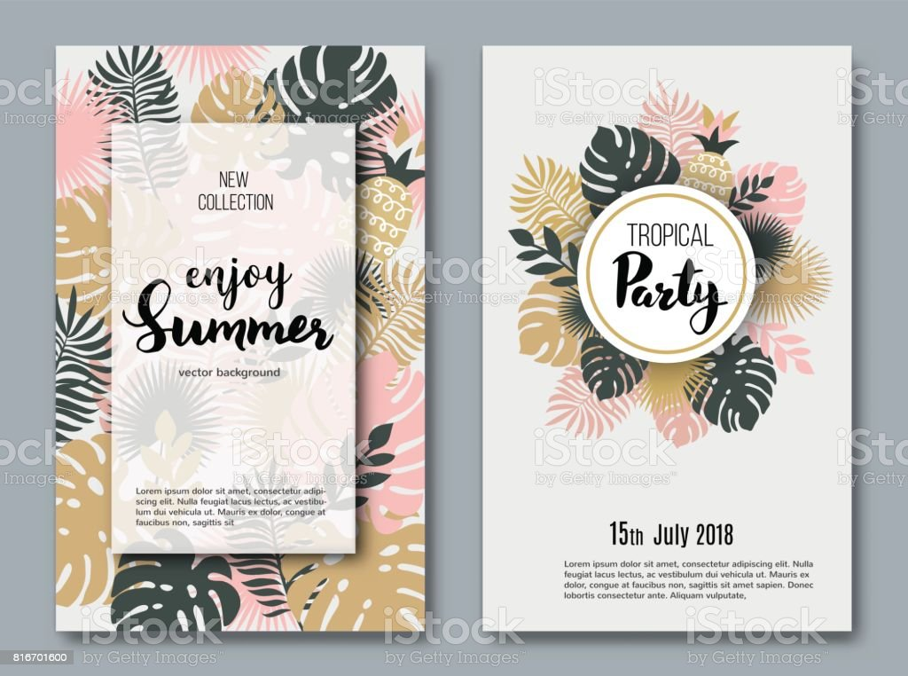 Summer  banners vector art illustration