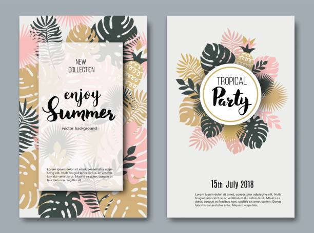 summer  banners - bohemian fashion stock illustrations, clip art, cartoons, & icons