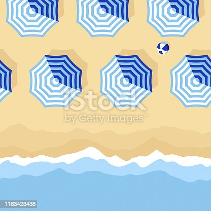 This illustrated beach scene repeats seamlessly horizontally and would make an ideal background for your summer design project. The illustrator 10 vector file can be coloured and customized to suit your needs and scaled infinitely without any loss of quality.