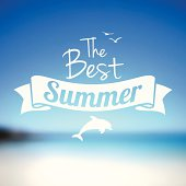 Summer beach background with a space for your text.