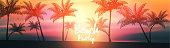 Summer beach banner panorama