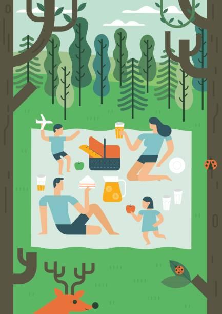 bildbanksillustrationer, clip art samt tecknat material och ikoner med sommaren beach platt design vektor karaktär för banner design - vin sommar fest