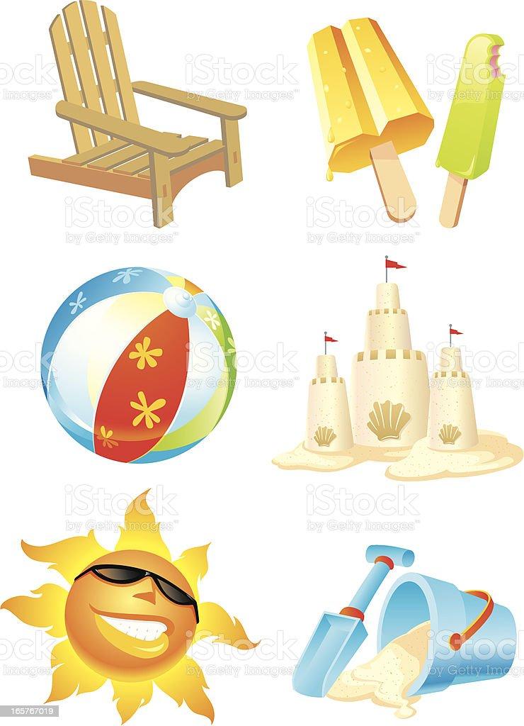 Summer Beach Fun vector art illustration