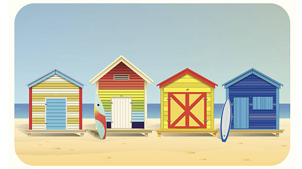 Royalty Free Beach House Clip Art Vector Images Illustrations