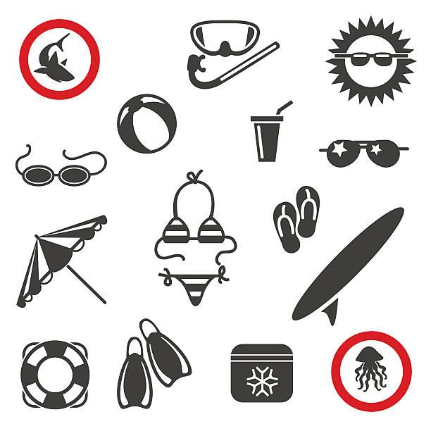 summer beach icons - google stock illustrations