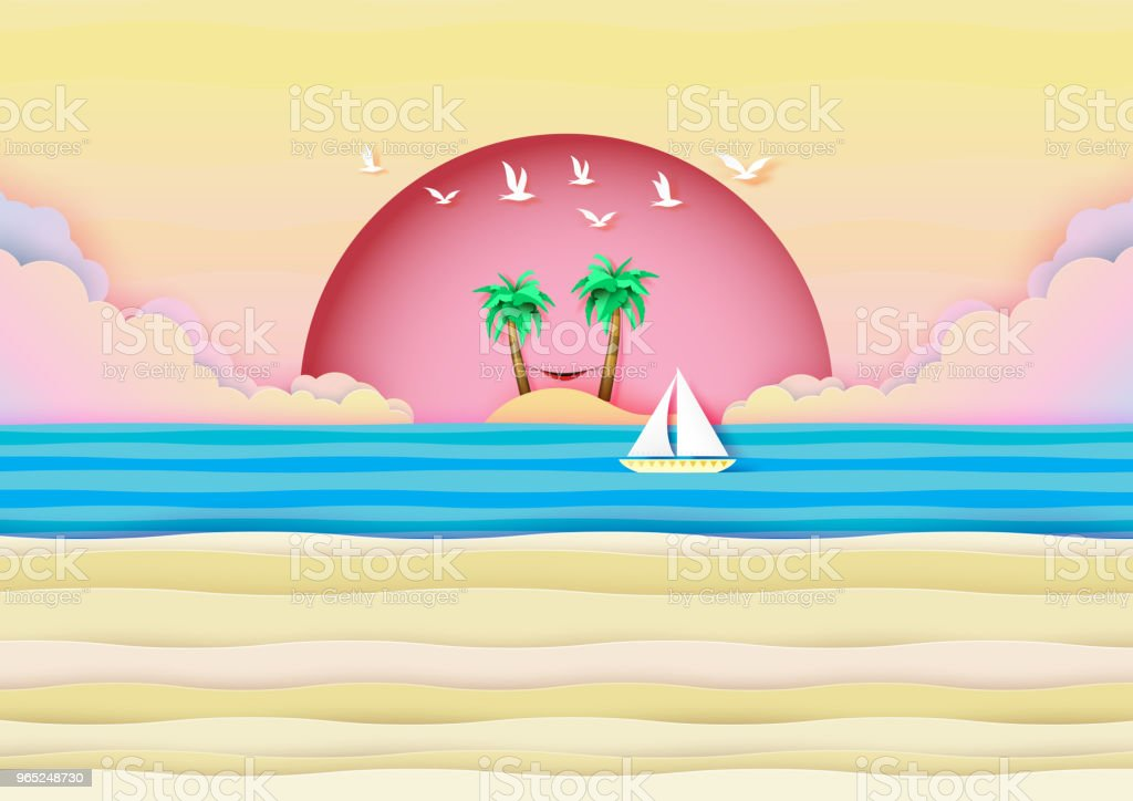 Summer beach in seashore banner concept design. royalty-free summer beach in seashore banner concept design stock vector art & more images of adventure