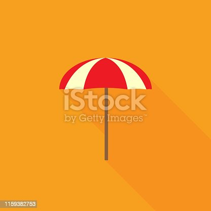 Summer beach parasol, umbrella. Flat design. Vector illustration. EPS10