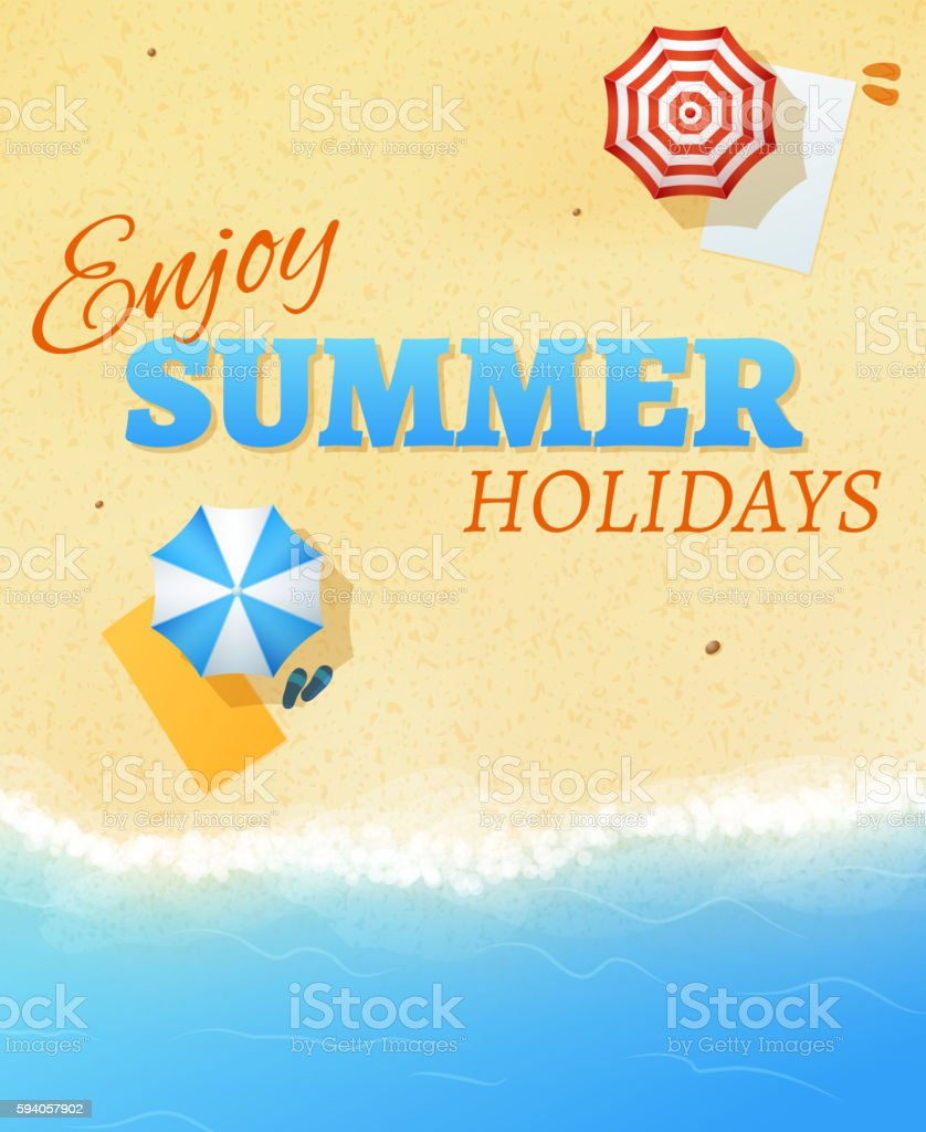 summer beach party banner flyer background vector template の