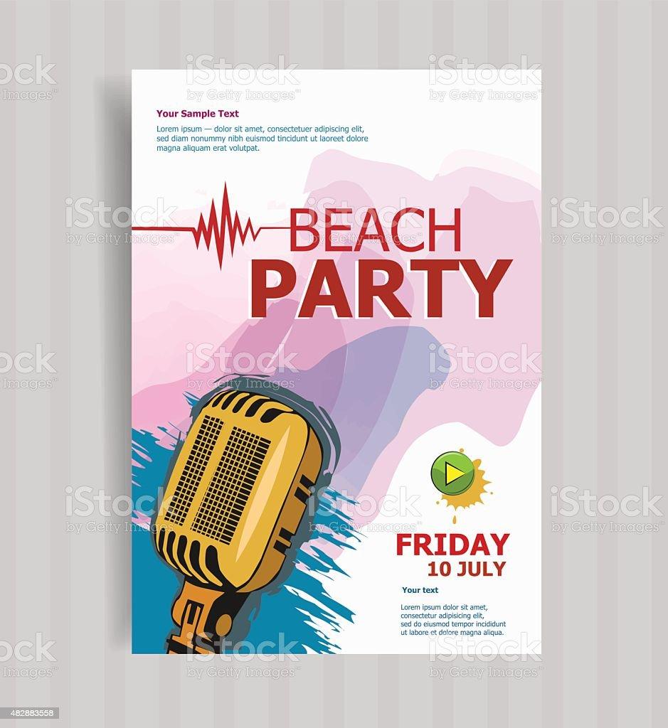 Sommer Strand Party Flyer Vorlage Stock Vektor Art und mehr Bilder ...