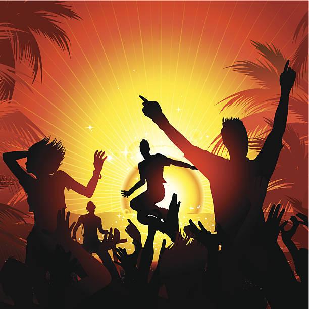 Summer beach party vector art illustration