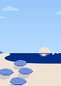 This illustrated beach scene would make an ideal background for your summer design project. The illustrator 10 vector file can be coloured and customized to suit your needs and scaled infinitely without any loss of quality.