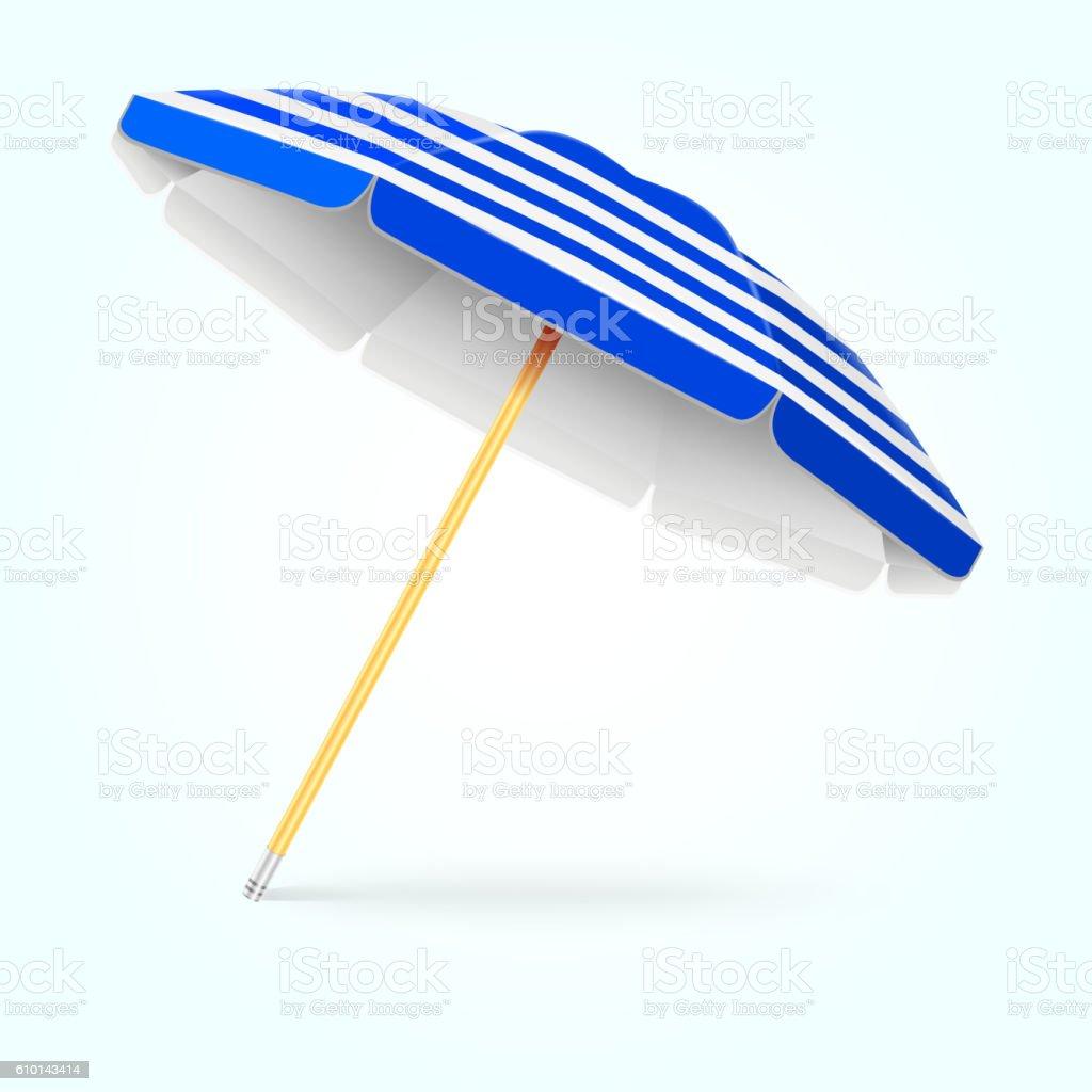 Summer beach umbrella, parasol. Sun protection vector concept vector art illustration