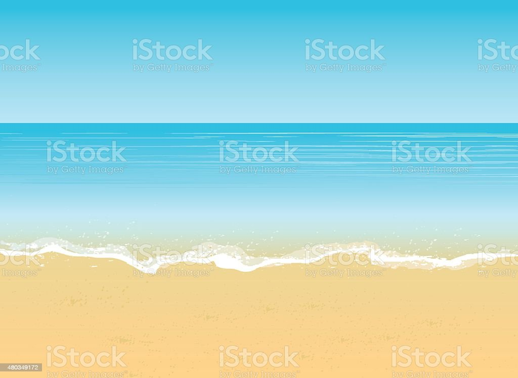 summer beach vacation concept background vector art illustration