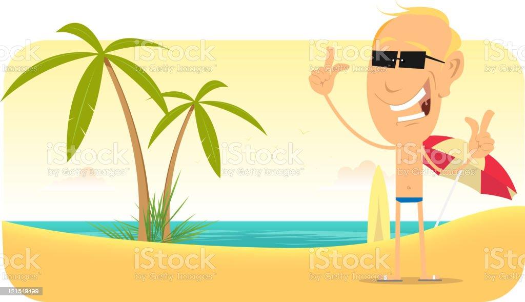 Summer Beach Vacations Banner vector art illustration