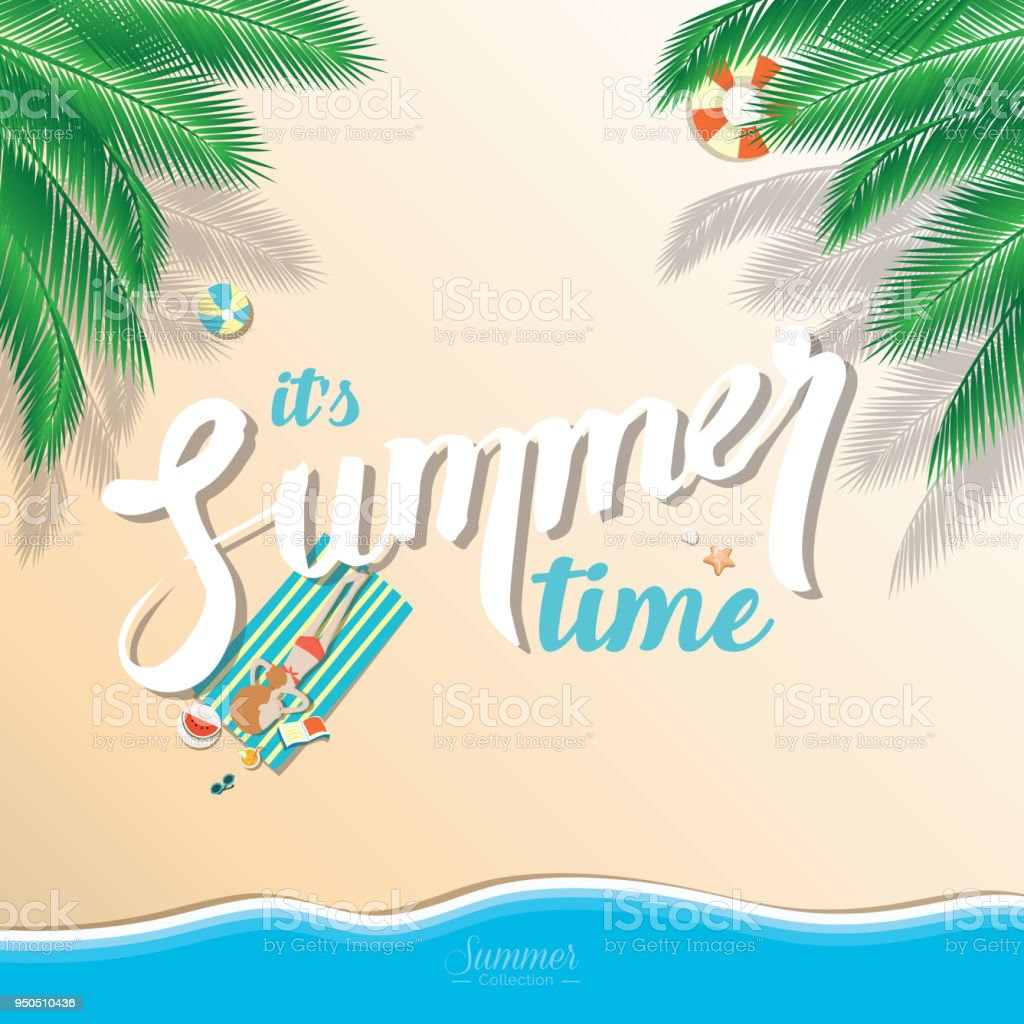 summer beach vector background stock vector art more images of