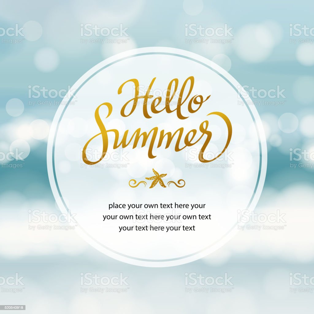 Summer Beach vector art illustration