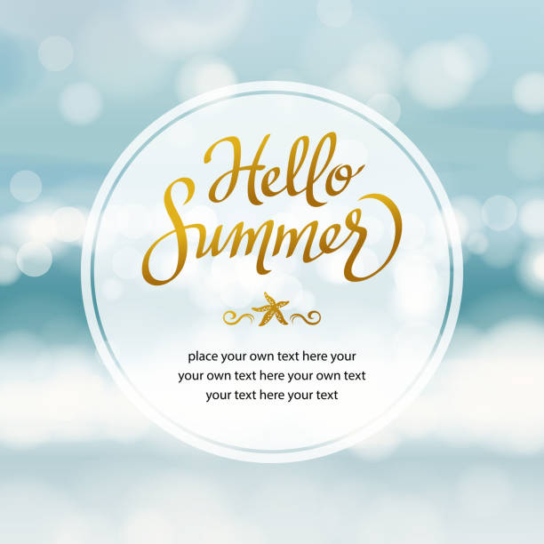 stockillustraties, clipart, cartoons en iconen met summer beach - westers schrift