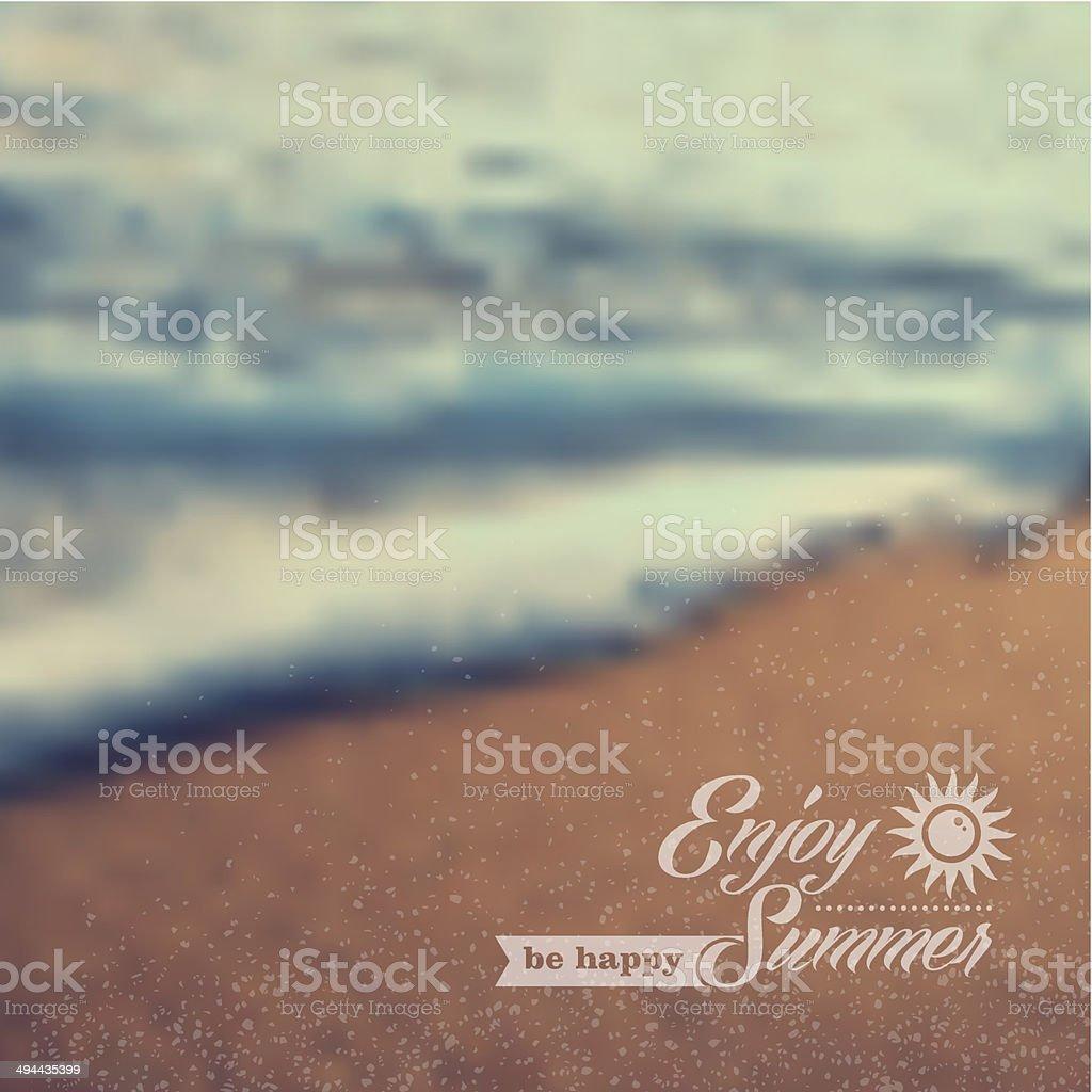Summer Beach Vintage Blurred Background Stock Illustration