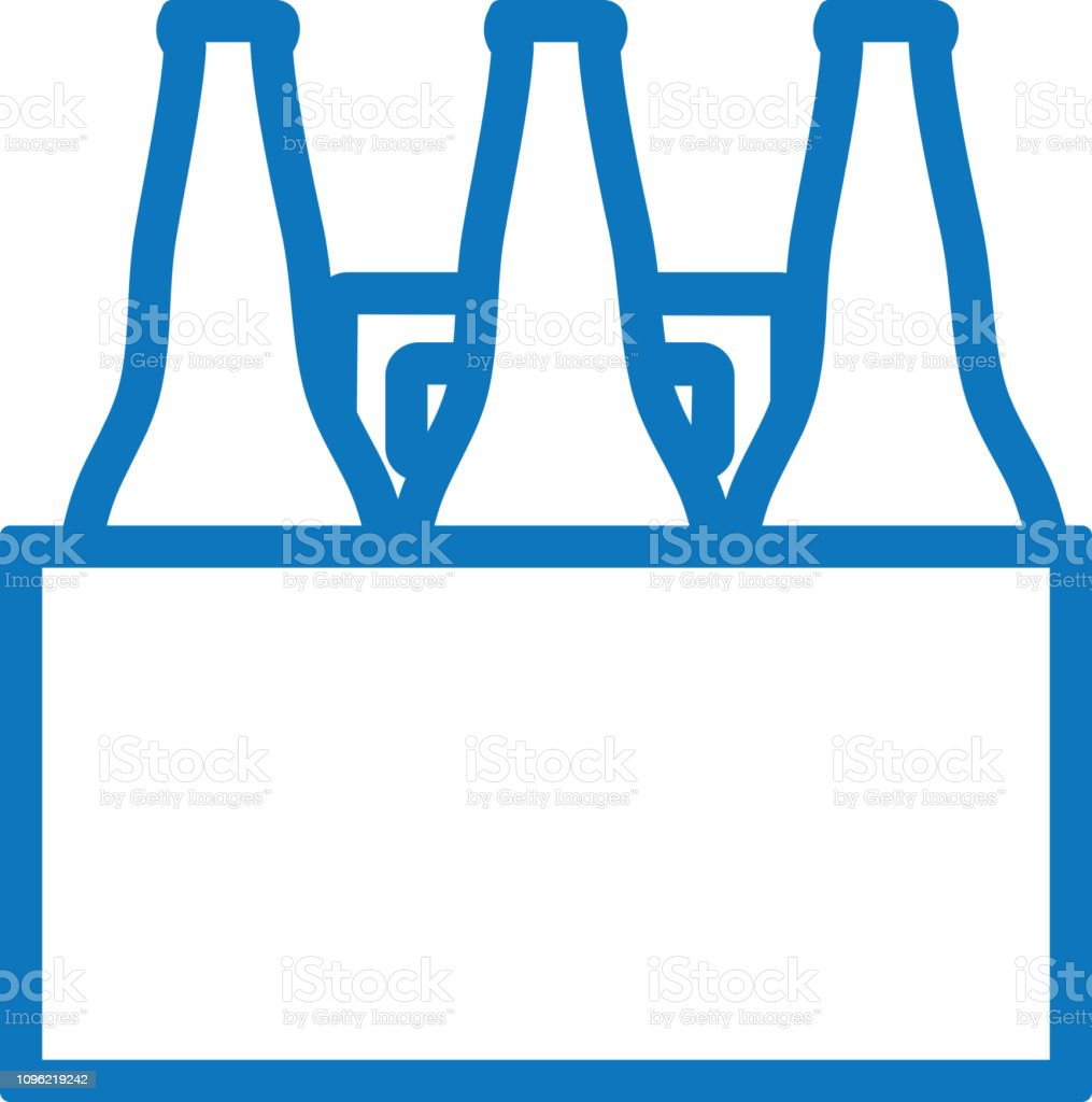 Summer Beer Tote Six Pack Outline Line Art Flat Icons Stock Illustration Download Image Now Istock