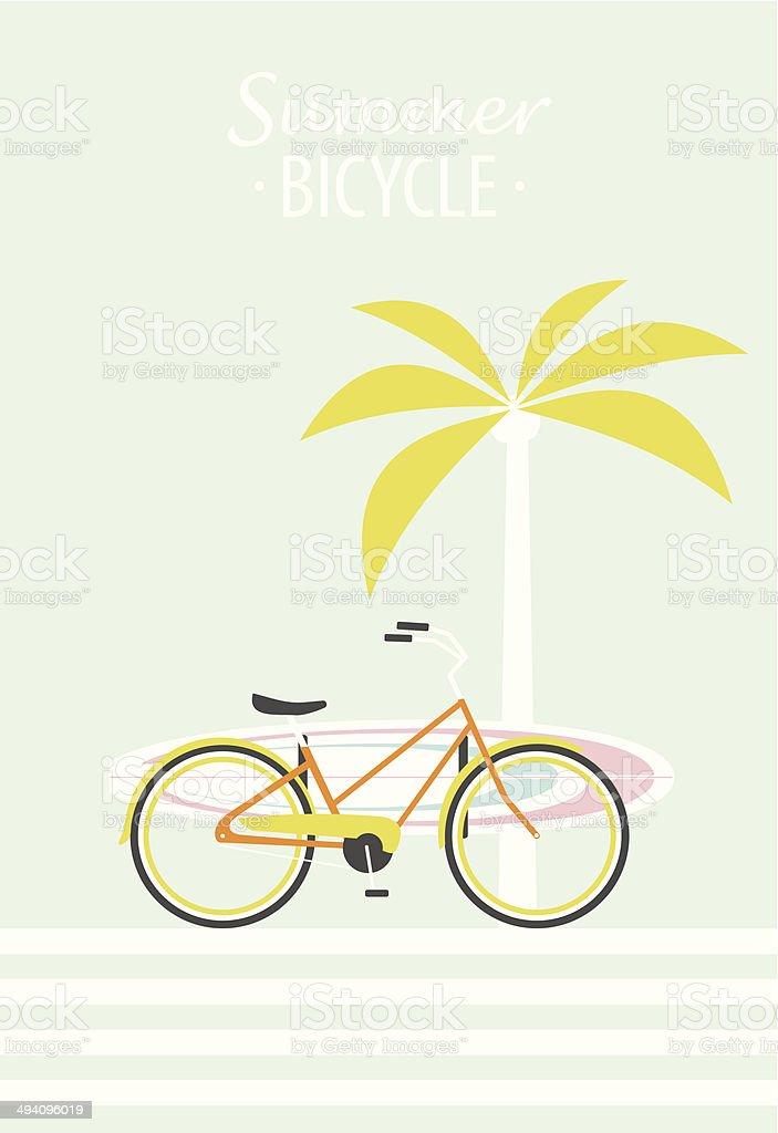 Summer Bicycle vector art illustration