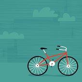 Summer biking background.