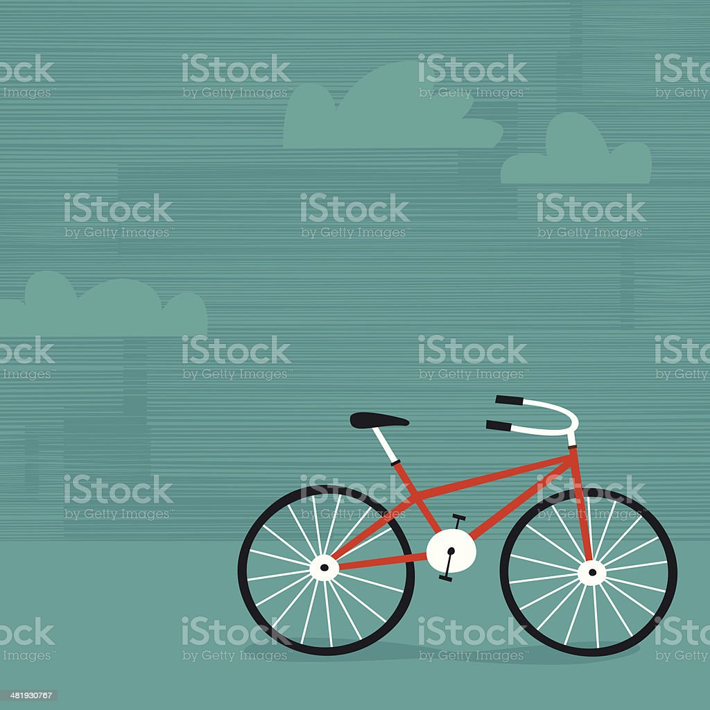 Summer biking vector art illustration