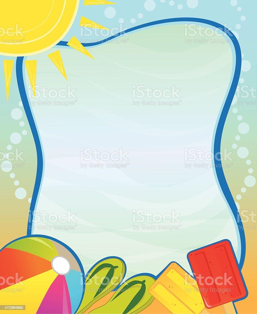 Summer Blank Sign vector art illustration