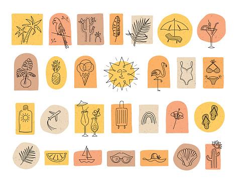 Summer boho icons