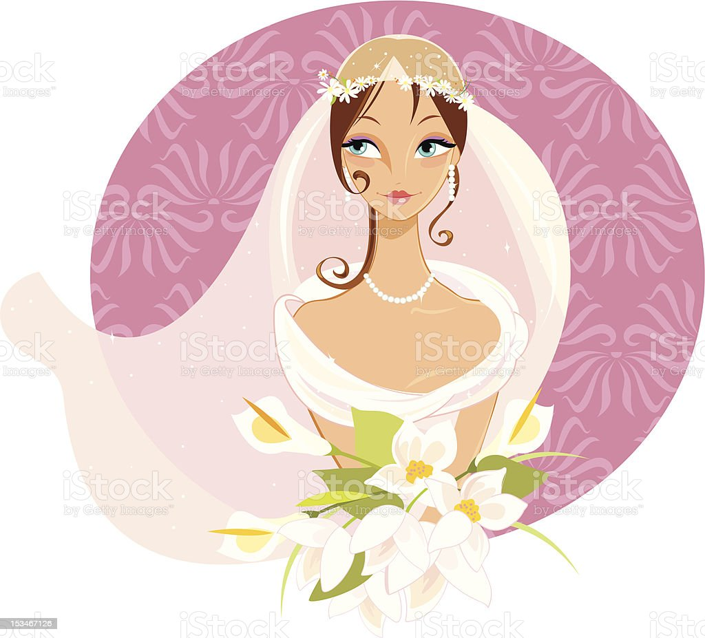 Summer Bride royalty-free stock vector art