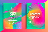 istock Summer bright party poster 1002259028